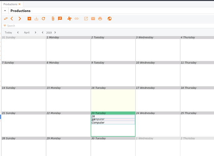 overlapping calendar items